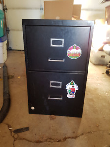2-Drawer Legal / Letter Black Filing Cabinet