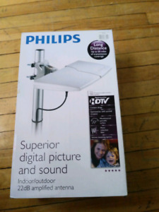 PHILIPS HDTV ANTENNA. POWER SUPPLY AND INJECTOR MISSING