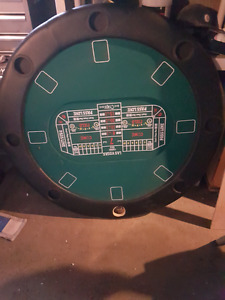 8 place poker table