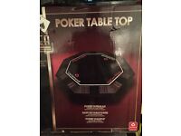 Poker table top for 8 players
