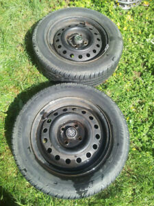 2, Michelin X one tubless all season radial  3 tread tires on 14