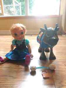 Frozen Anna doll and Sven
