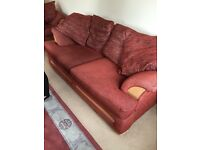 2 seater sofa and 3 seater sofa bed and matching foot rest £150 ono