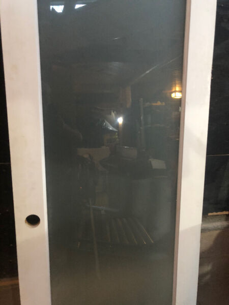 Super tall acid etched interior door