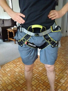 Climbing Harness With carabeaner and tie off strap