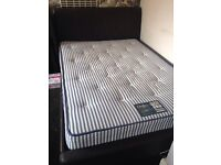 Double leather bed with matress
