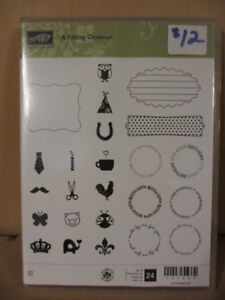 Stampin Up! 24 clear stamps $12