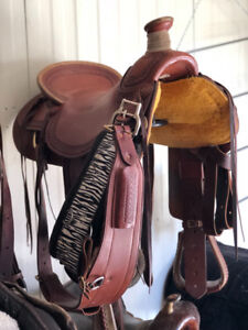 "17"" Billy Cook Arbuckle Wade Western Saddle"