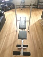 Weider 128 bench with leg curl