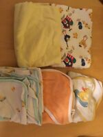 Receiving blankets and hooded towels