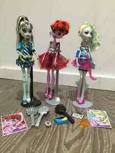 3 MONSTER HIGH DOLLS USED West Island Greater Montréal image 1