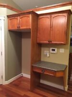 Cherry kitchen cabinets and appliances for sale