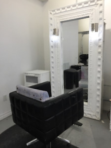 Three Hair Salon Styling Stations with Mirrors ($100 each)