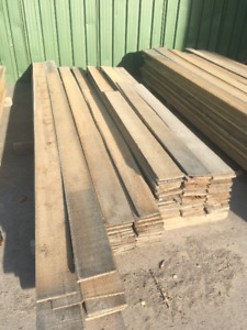 1/2x6 Rough Cut White Cedar PILE - LUMBER CLEAROUT