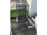 Large black Montana bird/ parrot cage
