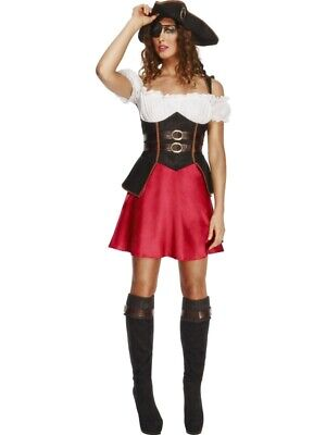 Fever Pirate Wench Costume Piratin Kleid Kostüm Größe M Damen Gebraucht (Pirate Wench Kostüm)