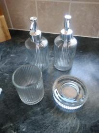 Glass bathroom accessories