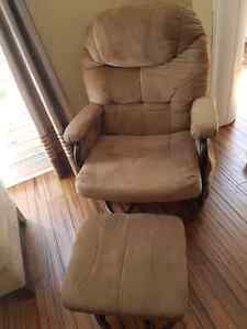 Recliner Rocking Chair with Rocking Ottoman