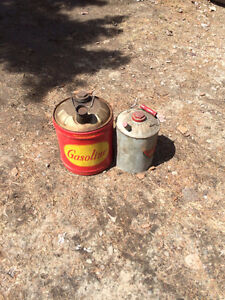 Vintage Metal Gas Cans collector items
