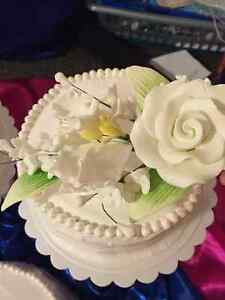 3 Tier Premade Cake Stand with gum paste Flower topper included! Strathcona County Edmonton Area image 9