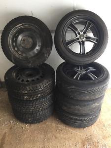4 Konig rims/tires + 4 winter rims/studded tires