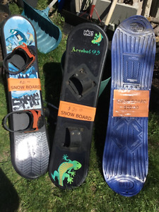 3 EXPERIENCED SNOWBOARDS,  CAN SELL SEPERATELY