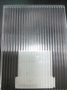 "1/8 Narrow Reeded Glass 4mm, STOCK SIZE [65""H x 85""]= 38 sf/sht"