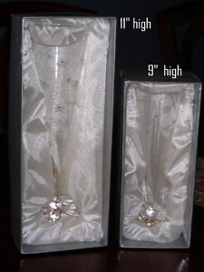 Two Vases ( or Flutes ?) New in Box
