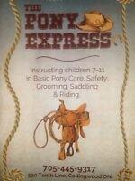 Pony Rides and Lessons at The Pony Express, Collingwood, ON