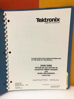 Tektronix 070-4631-00 24452465 Option 0609 Countertimertrigger Manual