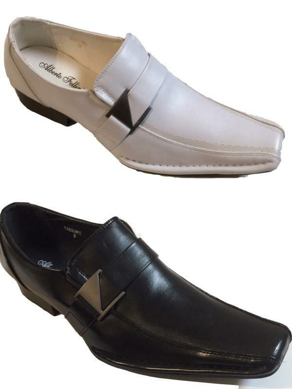 Mens Dress Shoes Casual Loafers Elastic Slip On Fashion Buckle Sizes 1