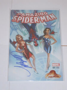 Amazing Spider-Man#1 J Scott Campbell signed COA comic book