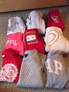 Size 7/8 girls sweater/hoodie lot