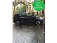 £94.56 PER MONTH 2012 NISSAN NOTE 1.4 16v N-TEC+ PETROL MANUAL SAT NAV BLUETOOTH
