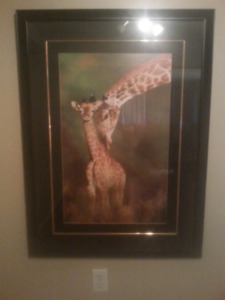 4 Large Wall art framed pictures