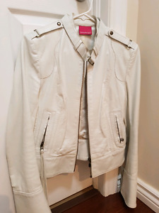 Woman's Mackage leather jacket ( white) size small