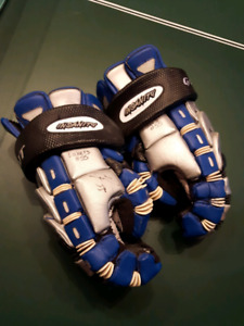 Signed Mann Cup Championship Gloves #55 Chris Panos