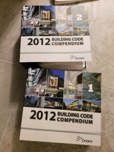 Ontario Building Code 2012 latest version and various textbooks