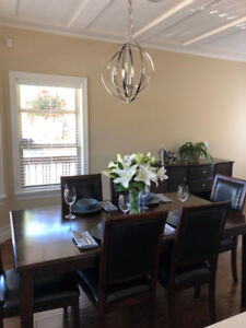 Dining room set - $500 (full set), $375 (table & chairs only)