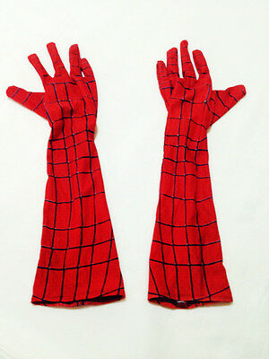 Stunning Amazing Spider-Man Elbow-length Gloves Costume Accessories Cosplay - Amazing Spider Man Handschuhe