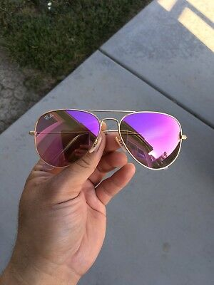 New Ray-Ban Rb3025 112/4T 58MM Pink Aviator Sunglasses
