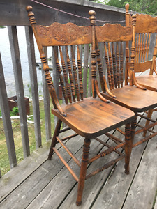 Vintage 3 dining chairs