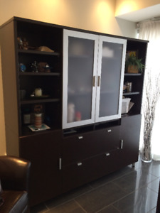 Beautiful Shelf and Cabinet unit in great condition - 300$