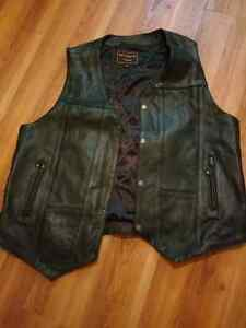 Leather pants and vest. (Real leather)