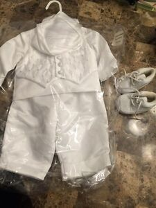Boys baptism outfit 6-9 months