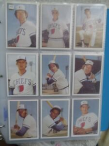 1978-1982-1984-1987-1988-SYRACUSE CHIEFS-Complete Team Sets.