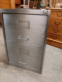 Vintage Industrial Steel Filing Cabinet Stripped and Polished Delivery