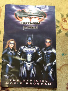 Batman & Robin Movie Program Sarnia Sarnia Area image 1