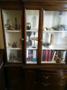 Armoire, 3 drawers 4 cupboards Glass display