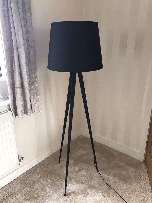 Black Habitat Tripod Lamp